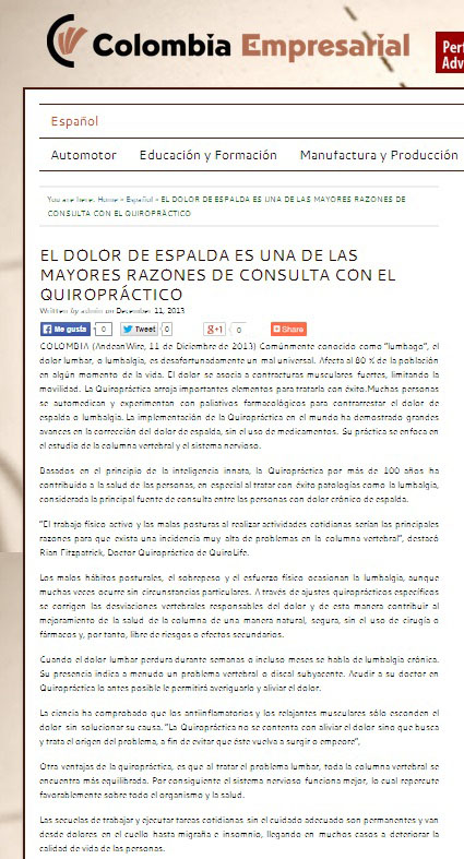 COLOMBIA EMPRESARIAL – 11 DIC
