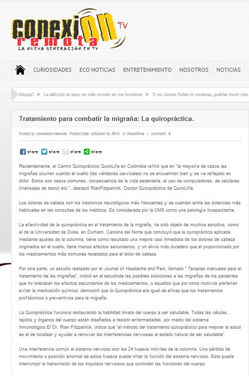 CONEXION REMOTA WEB – 14 OCT