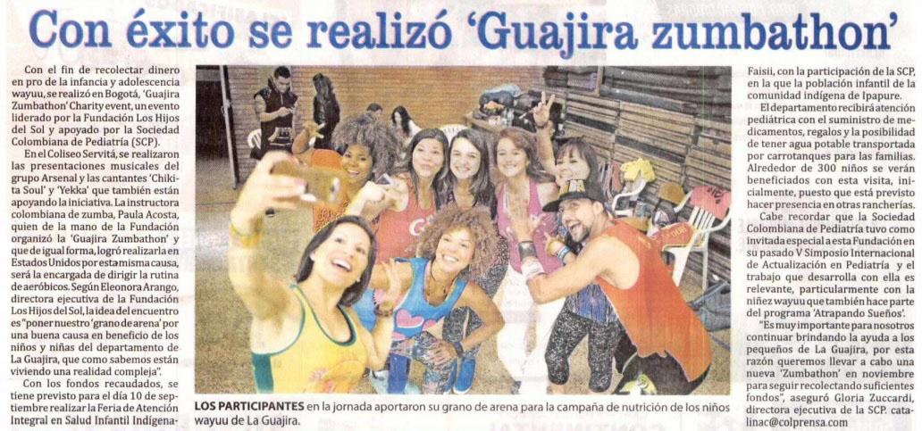 Diario de la Guajíra, Zumbathón