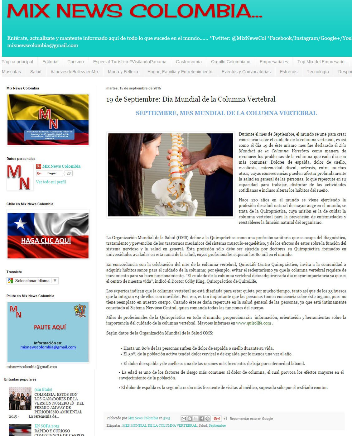 MixColombia 15 de septiembre [web]