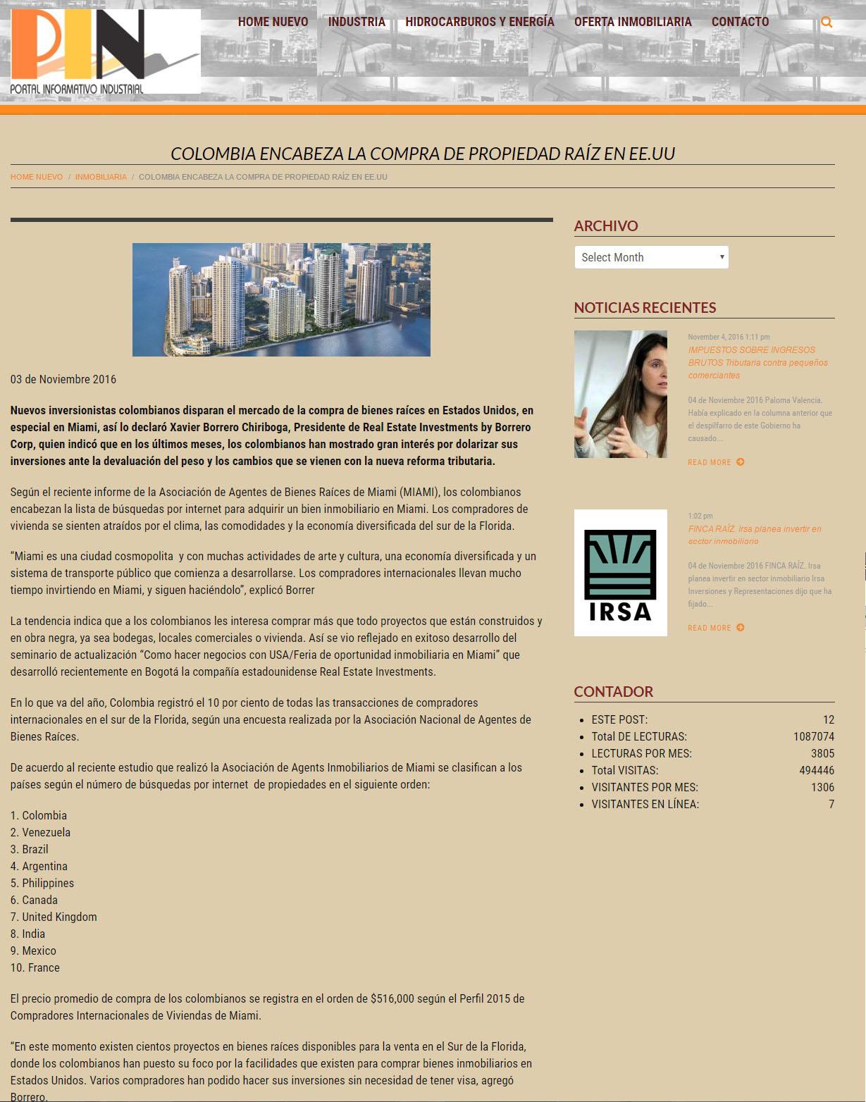 Portal Informativo Industrial 4 de Noviembre de 2016
