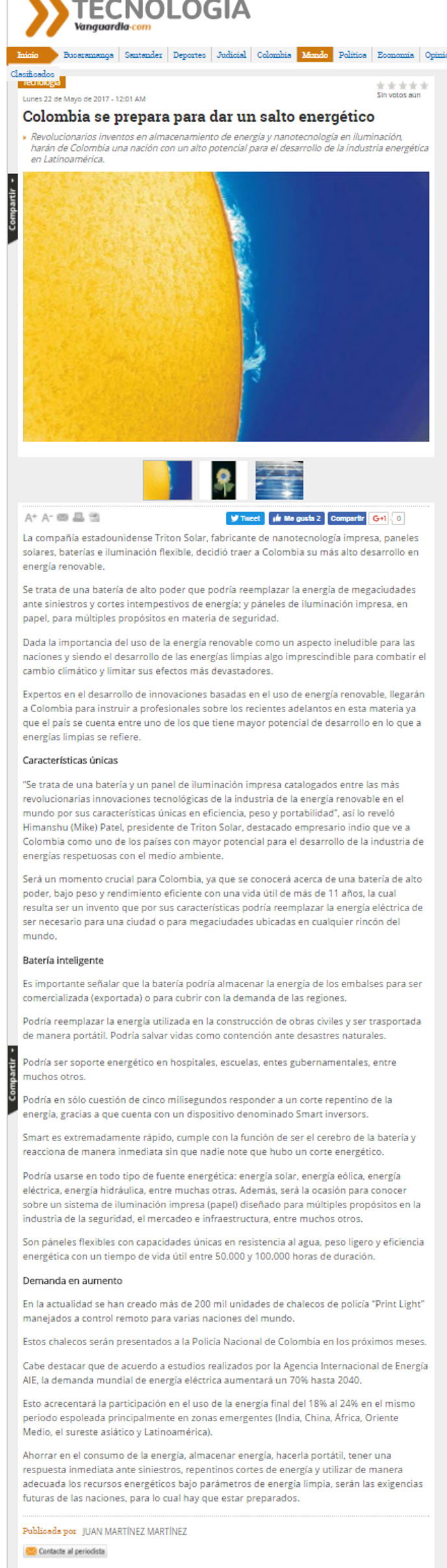 Vanguardia Liberal 22 de mayo