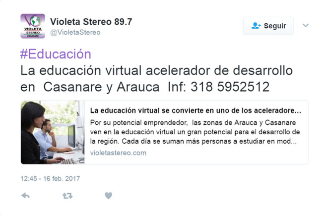 Violeta Stereo Twitter