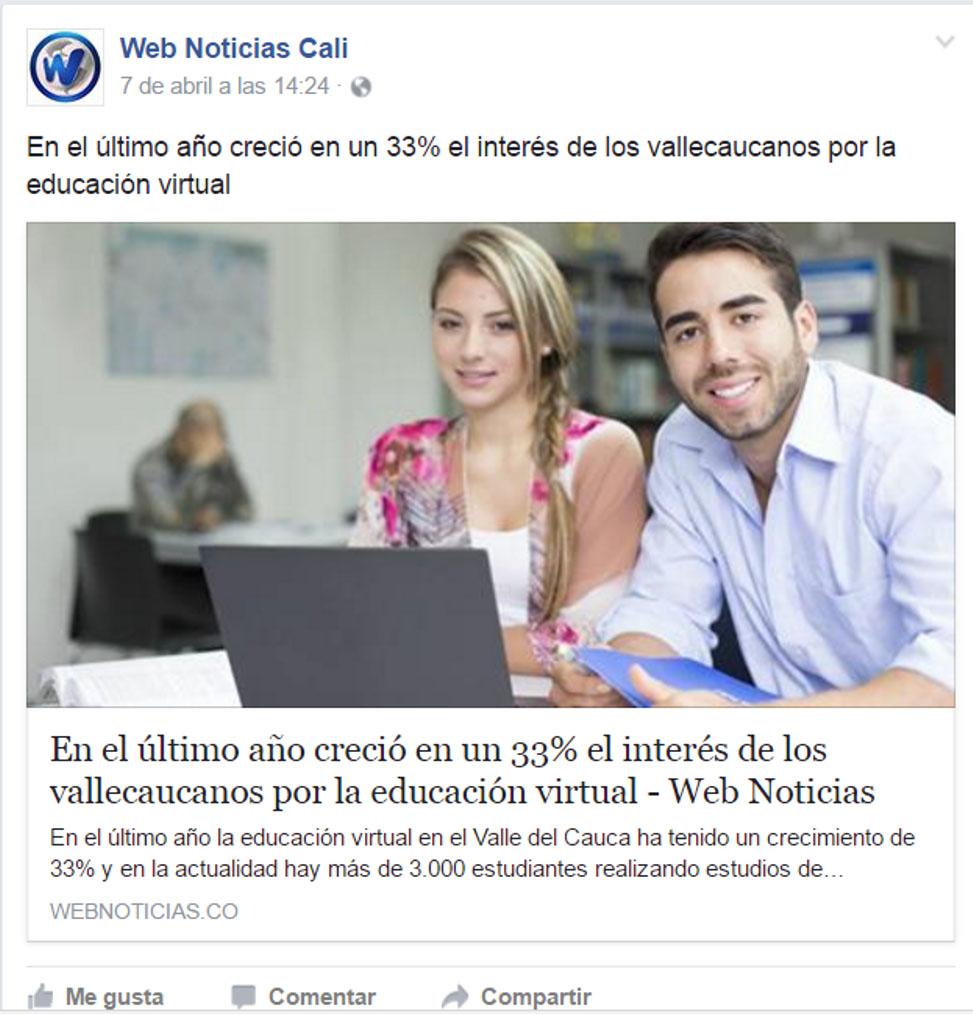 Web noticias facebook
