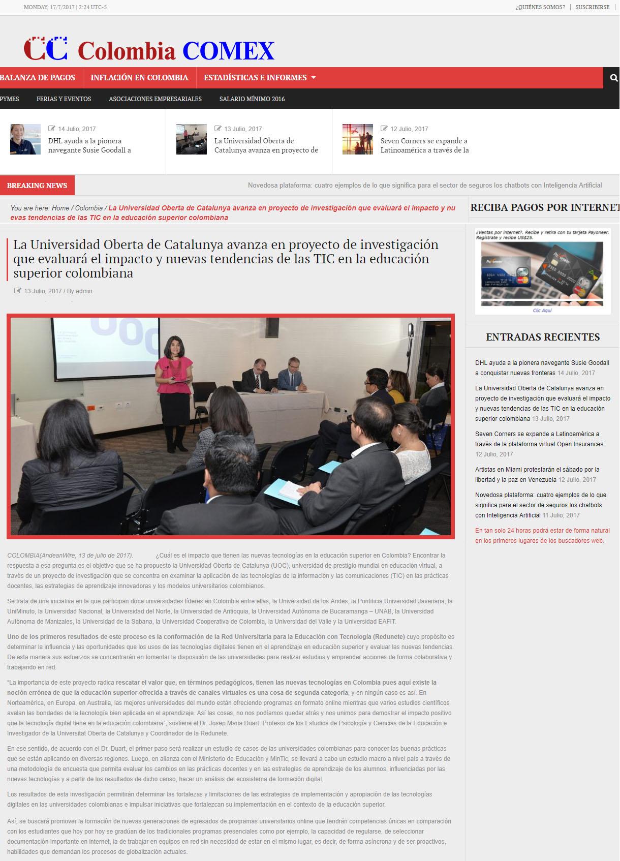www.colombiacomex.com.co 13 de Julio 2017