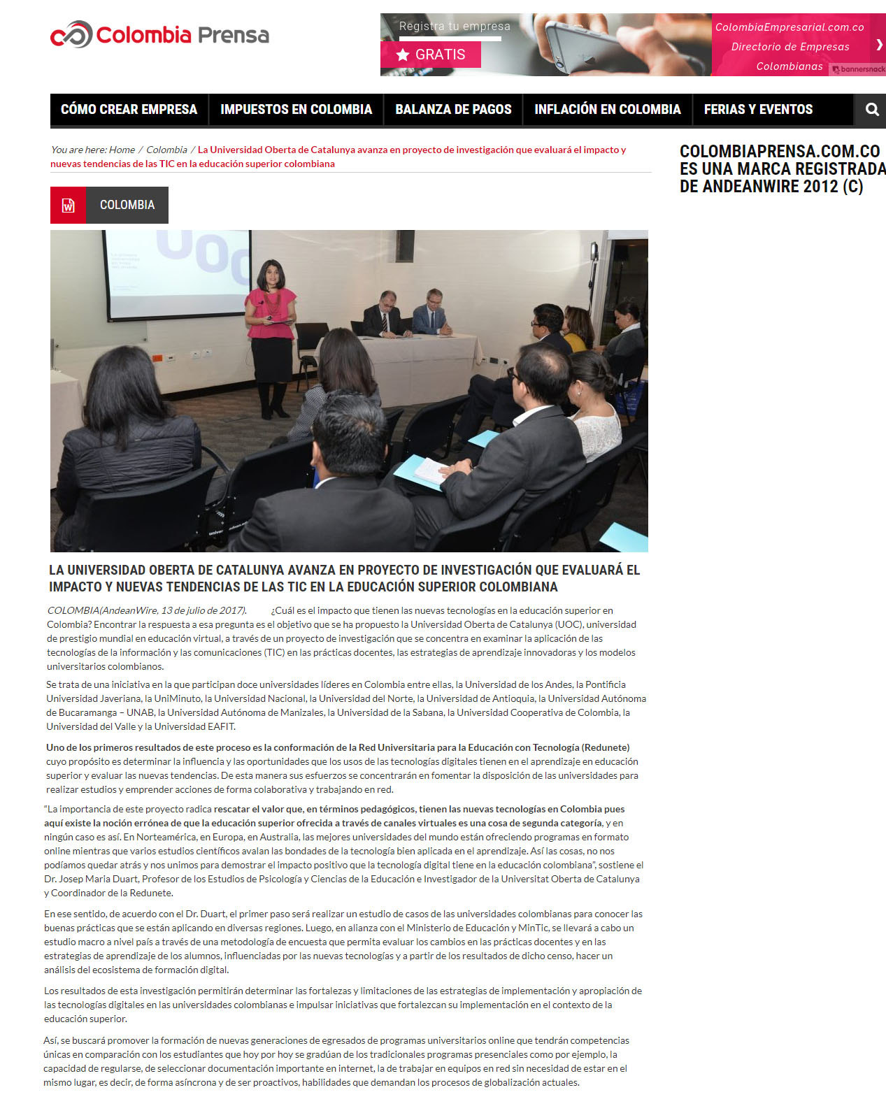 www.colombiaprensa.com.co 14 de julio 2017