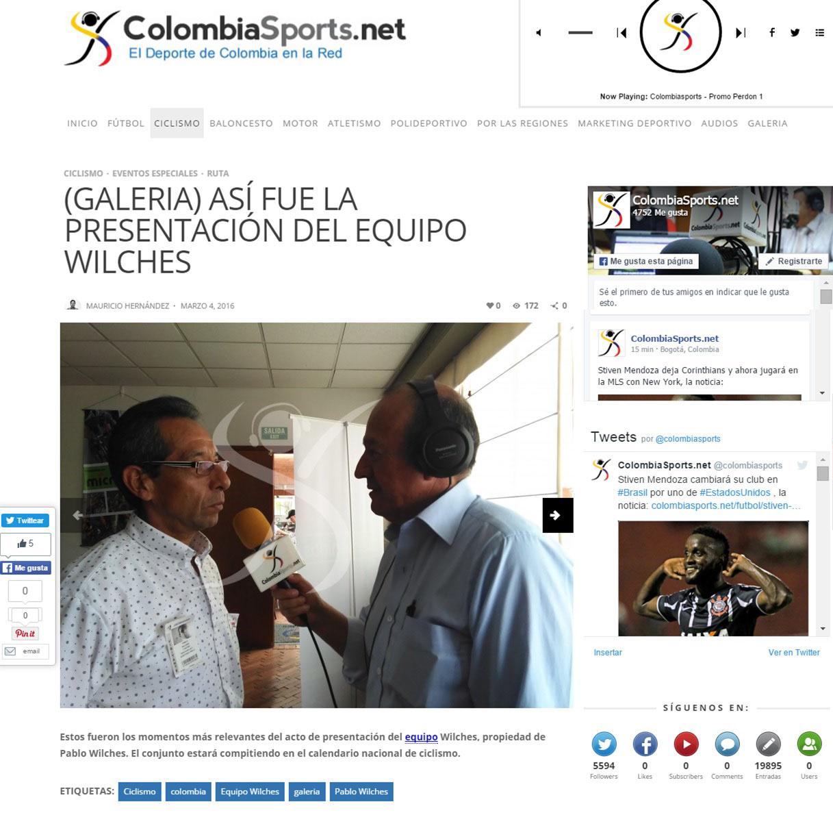 ColombiaSports.net 4 de Marzo 2016 [web]