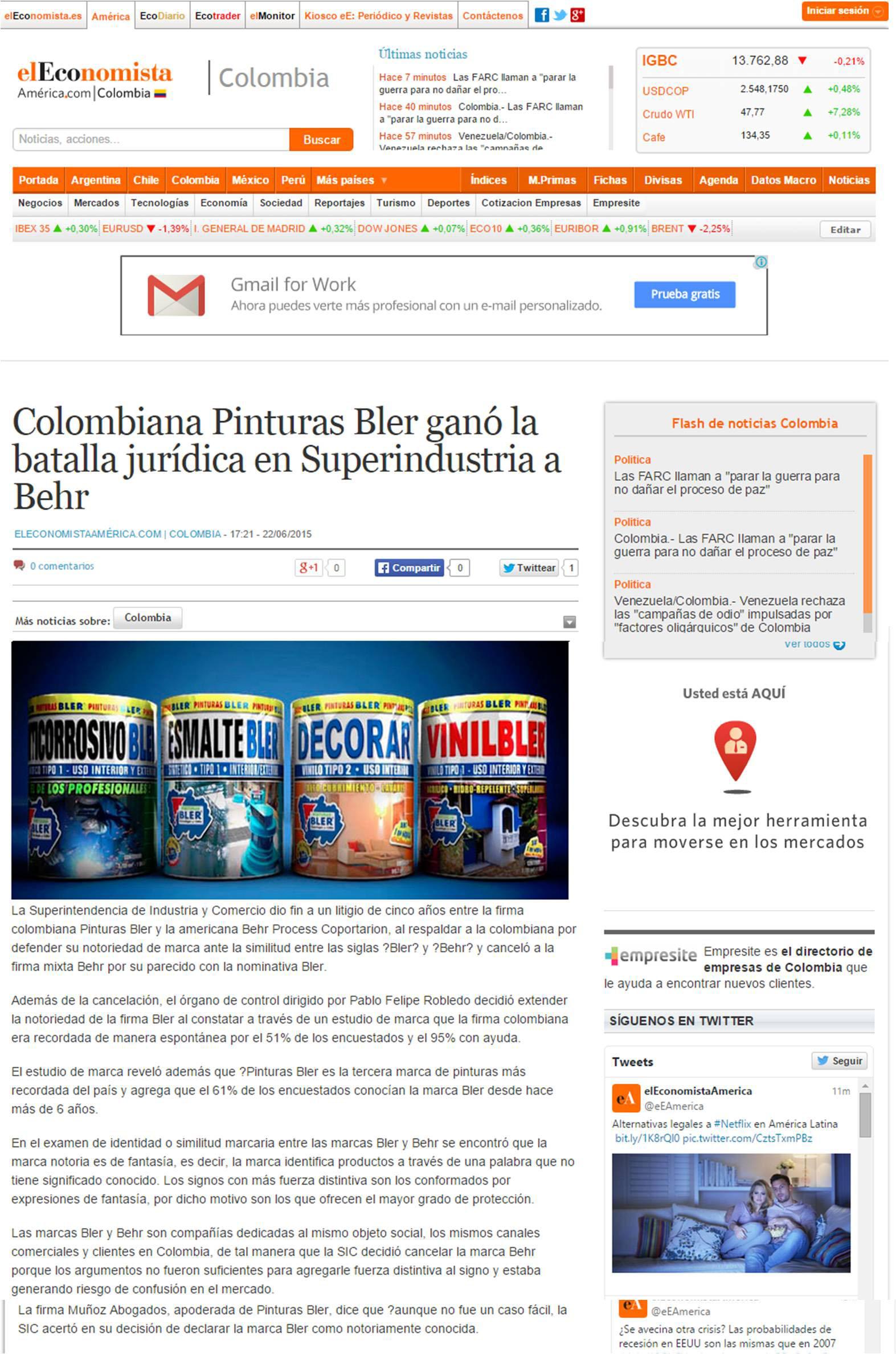 Eleconomistaamerica.com 22 de Junio [web]