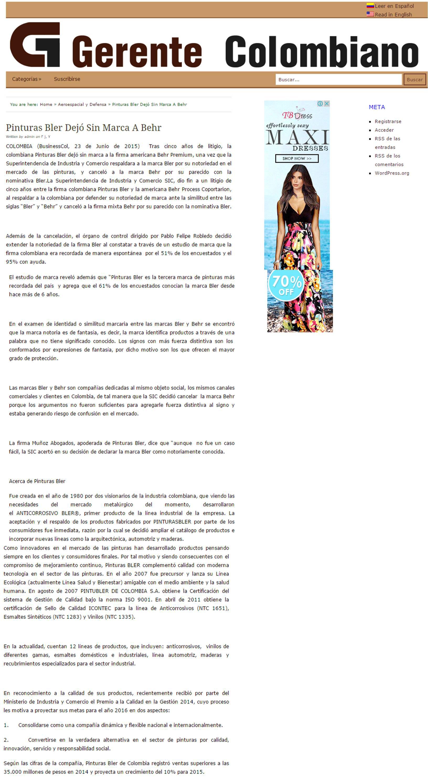 Gerente Colombiano 23 de Junio [web]