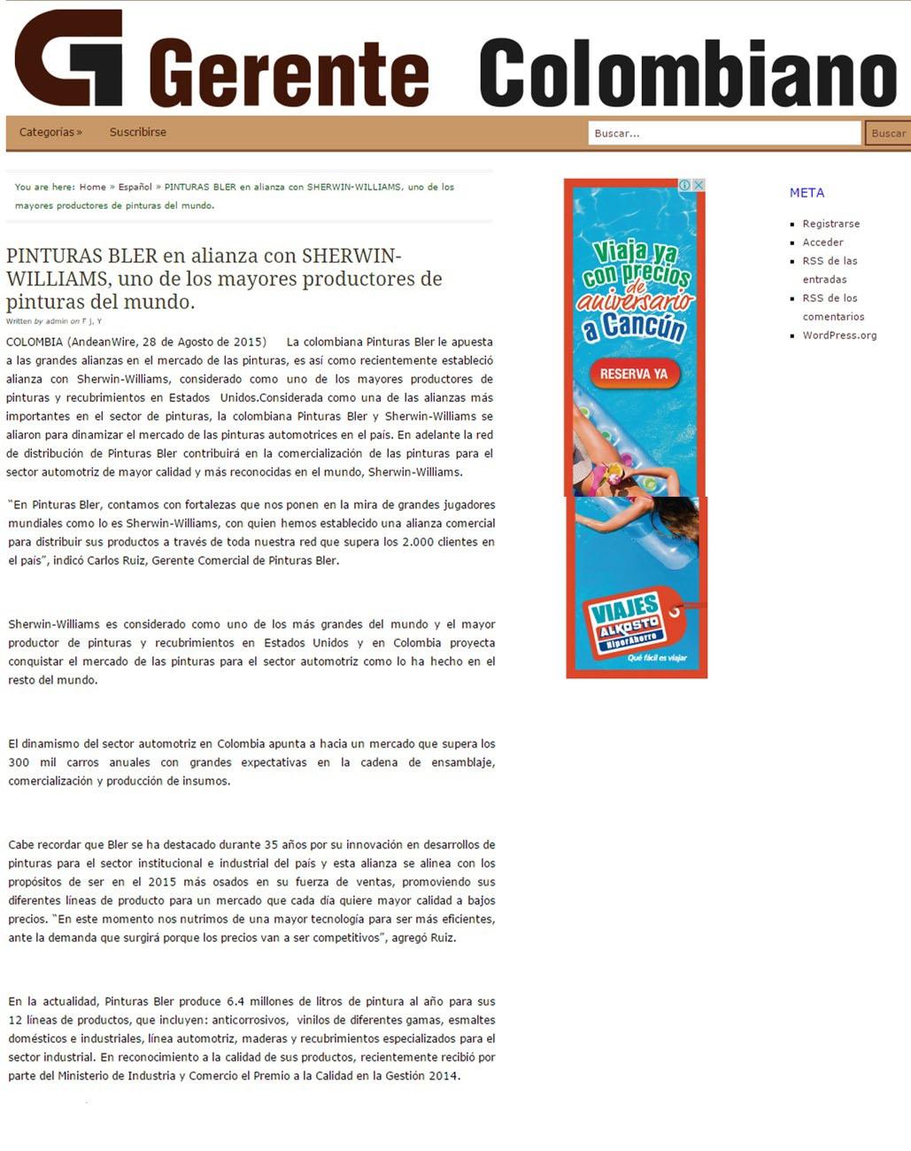 Gerente Colombiano 28 d agosto [web]