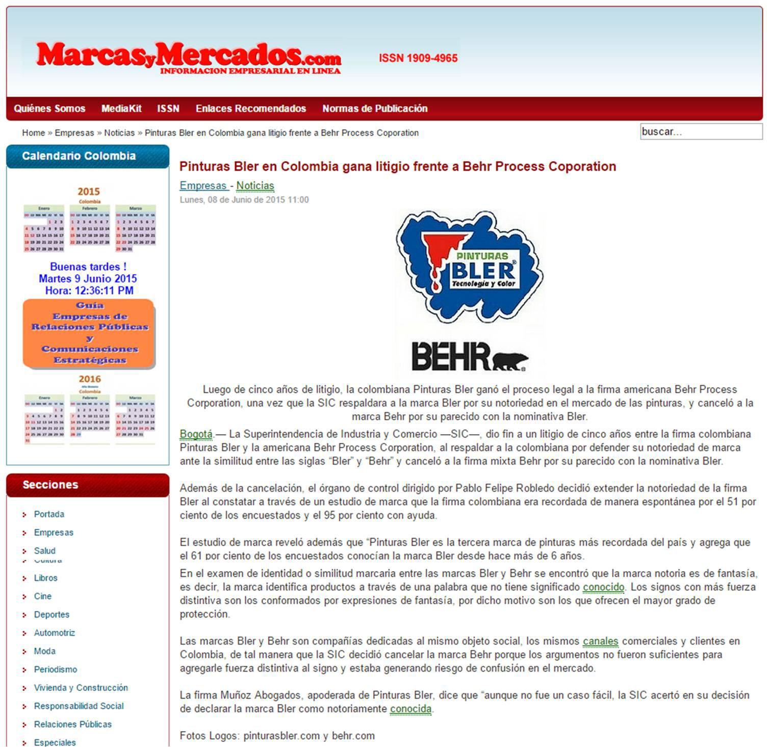 Marcas y Mercado – 9 de Junio [web]