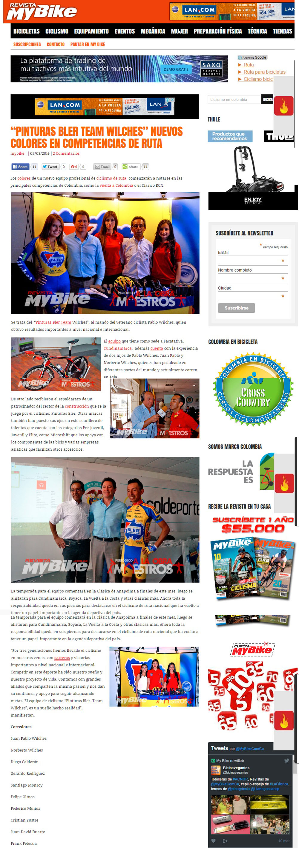 My Bike 9 de Marzo de 2016 [web]