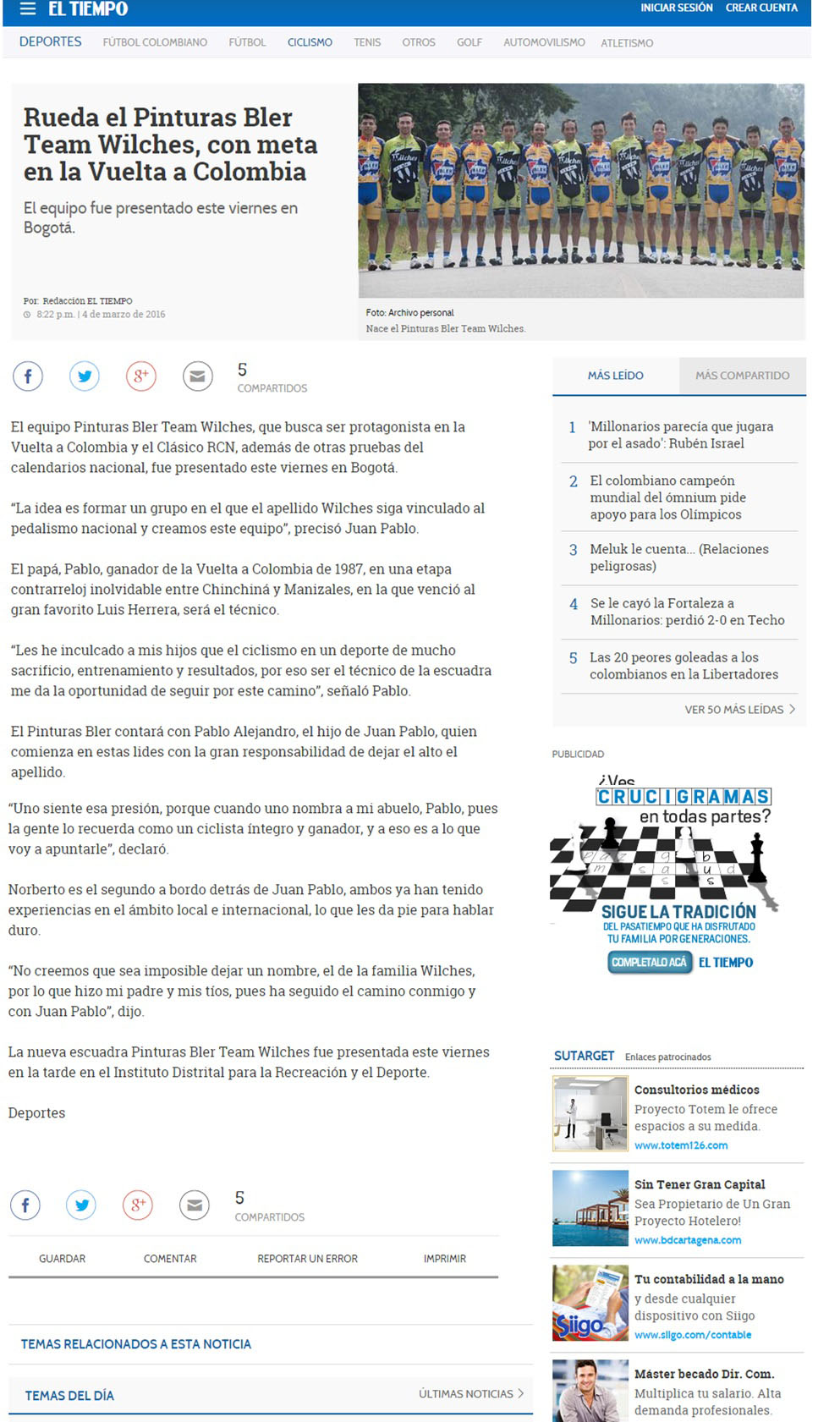 Tiempo.com 4 de Marzo 2015 [web]