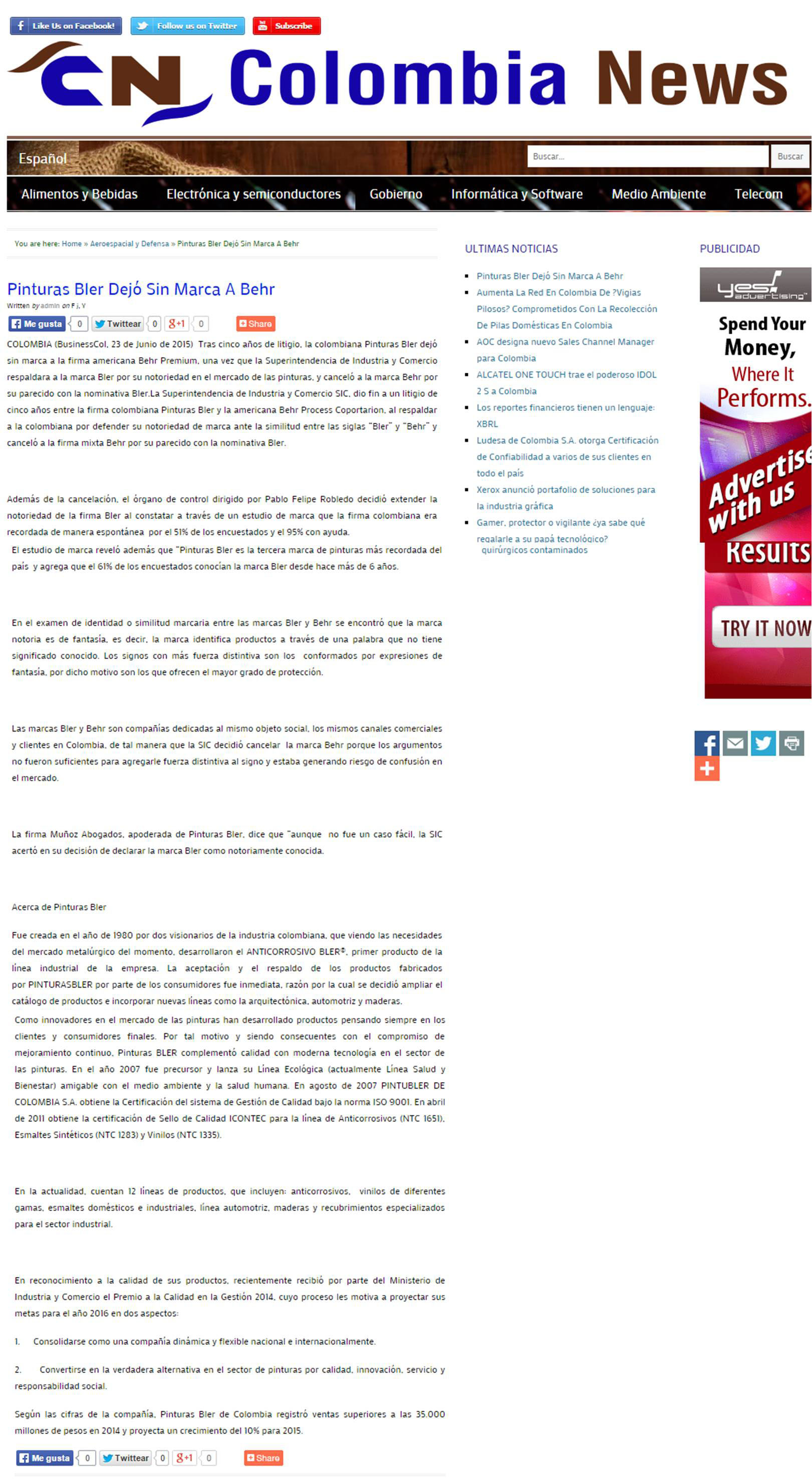 colombinews 23 de junio [web]
