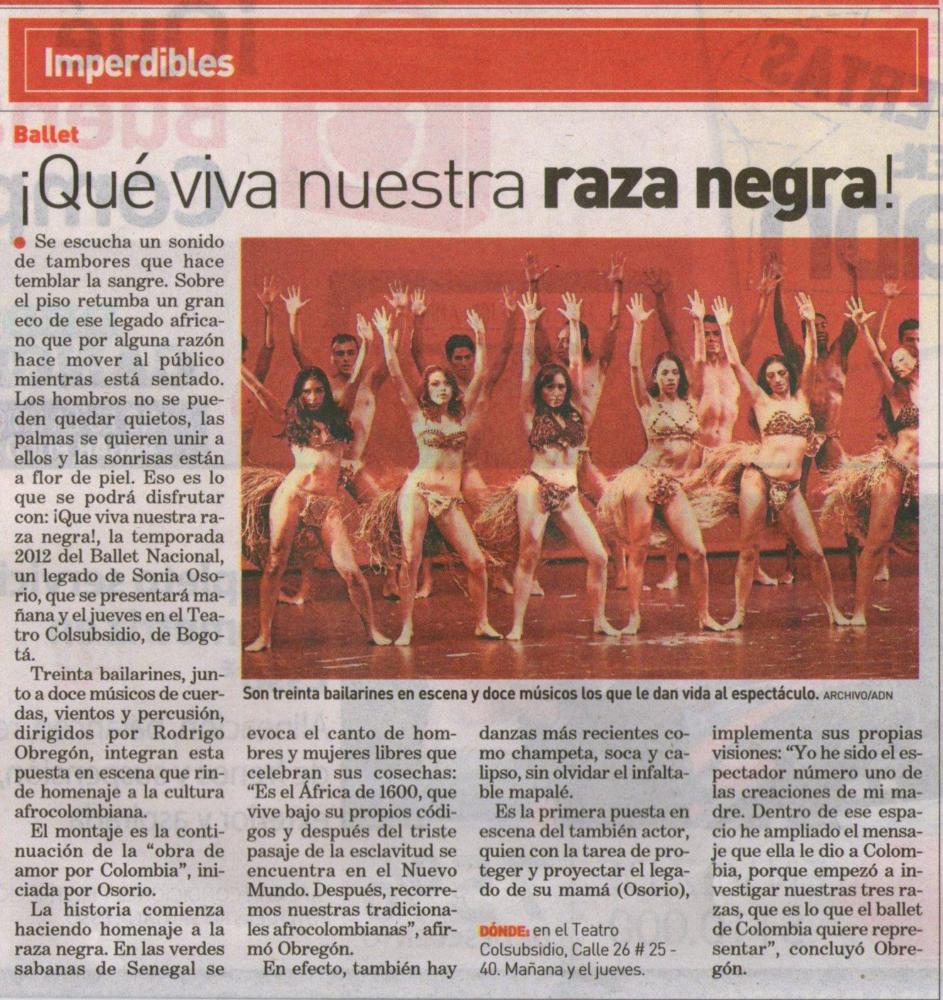ADN Ballet Nacional 18 septiembre