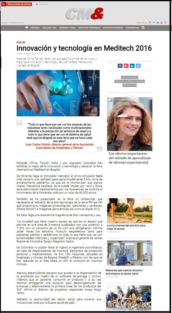 CM& LA NOTICIA -1 DE JULIO- INSSA