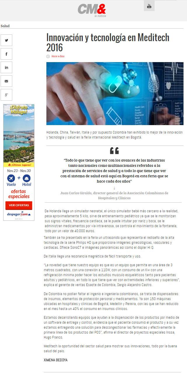 CM& LA NOTICIA – 2 DE JULIO – 2016 – INSSA