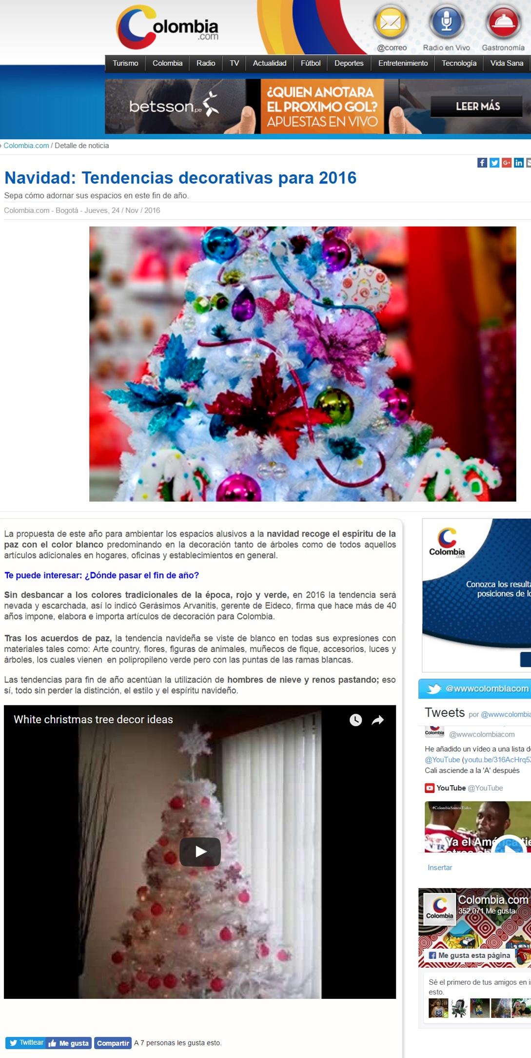 Colombia.com 24 de Noviembre de 2016 [web]