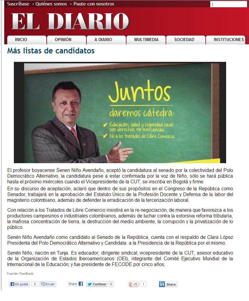 EL DIARIO.COM 29 de OCT