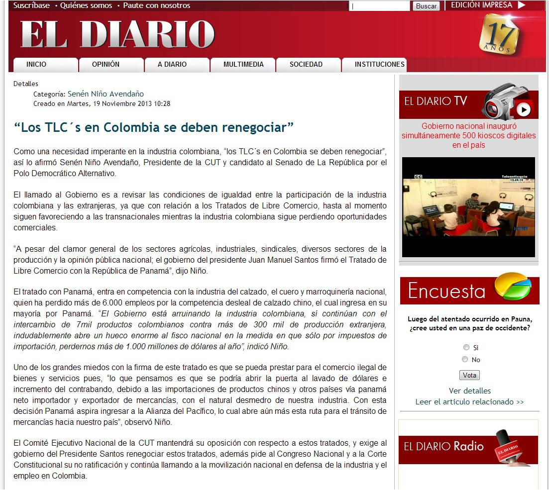 EL DIARIO.COM -TLC -19 DE NOV