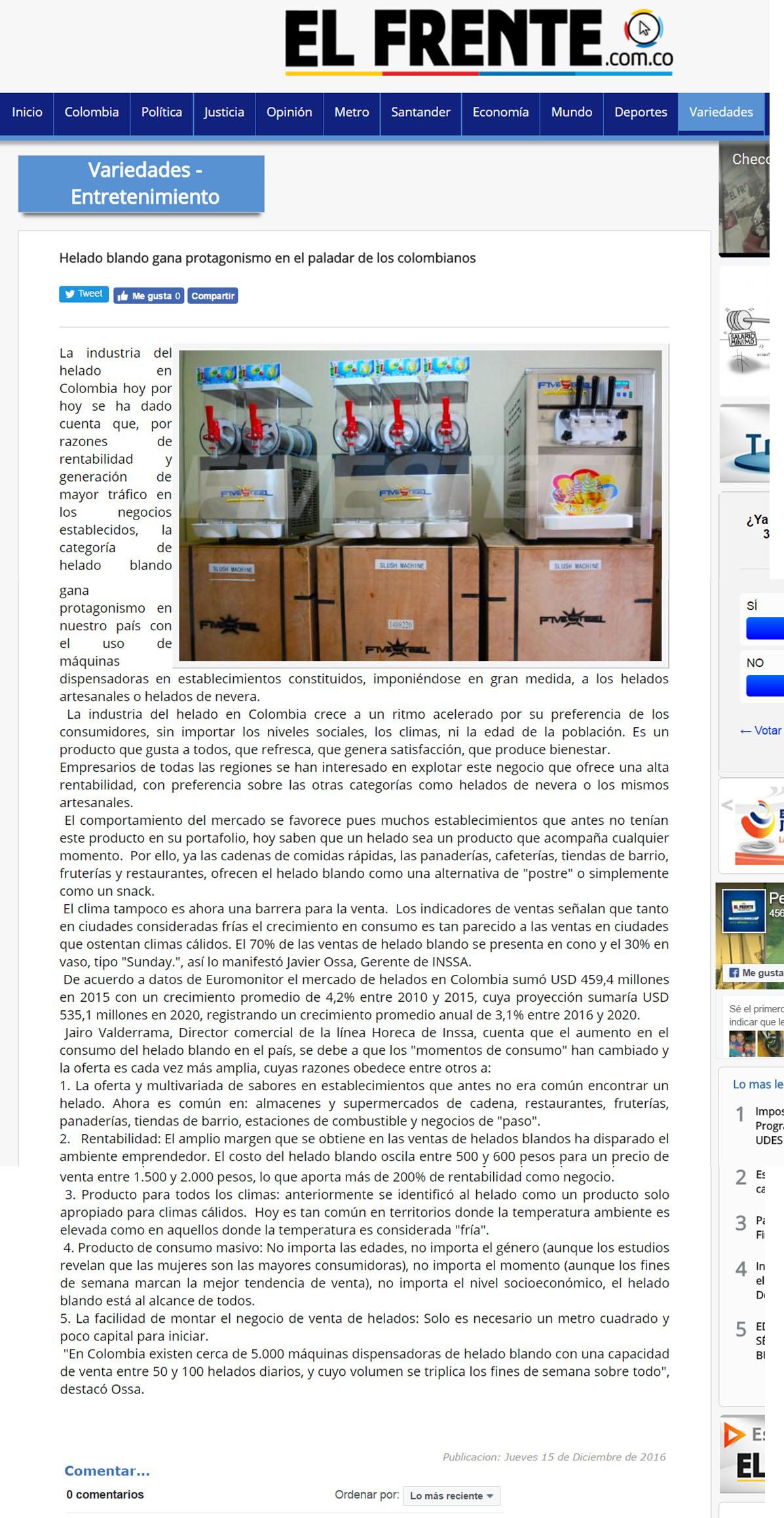 EL Frente 15 de Diciembre de 2016 [web]
