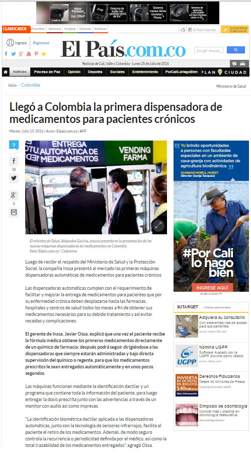 EL PAÍS.COM – 19 DE JULIO DE 2016 – INSSA