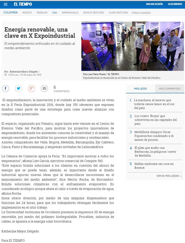 EL TIEMPO.COM 19 DE MAYO DE 2016