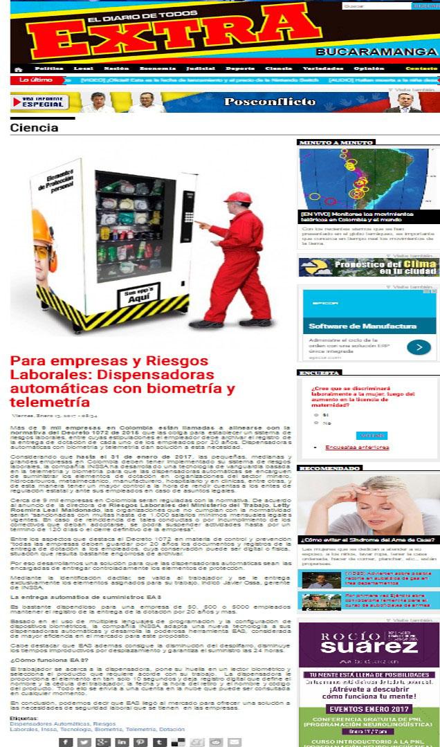 Extra Bucaramanga 13 de enero