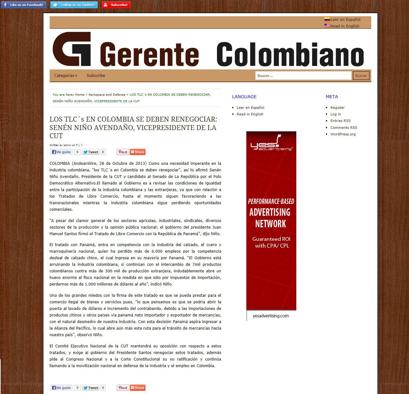 GERENTE COLOMBIANO nov. 2013