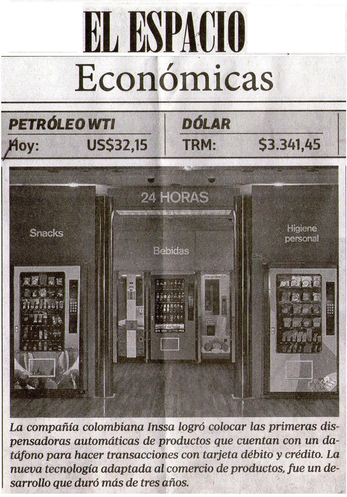 INSSA EL ESPACIO 25 DE FEB. 2016