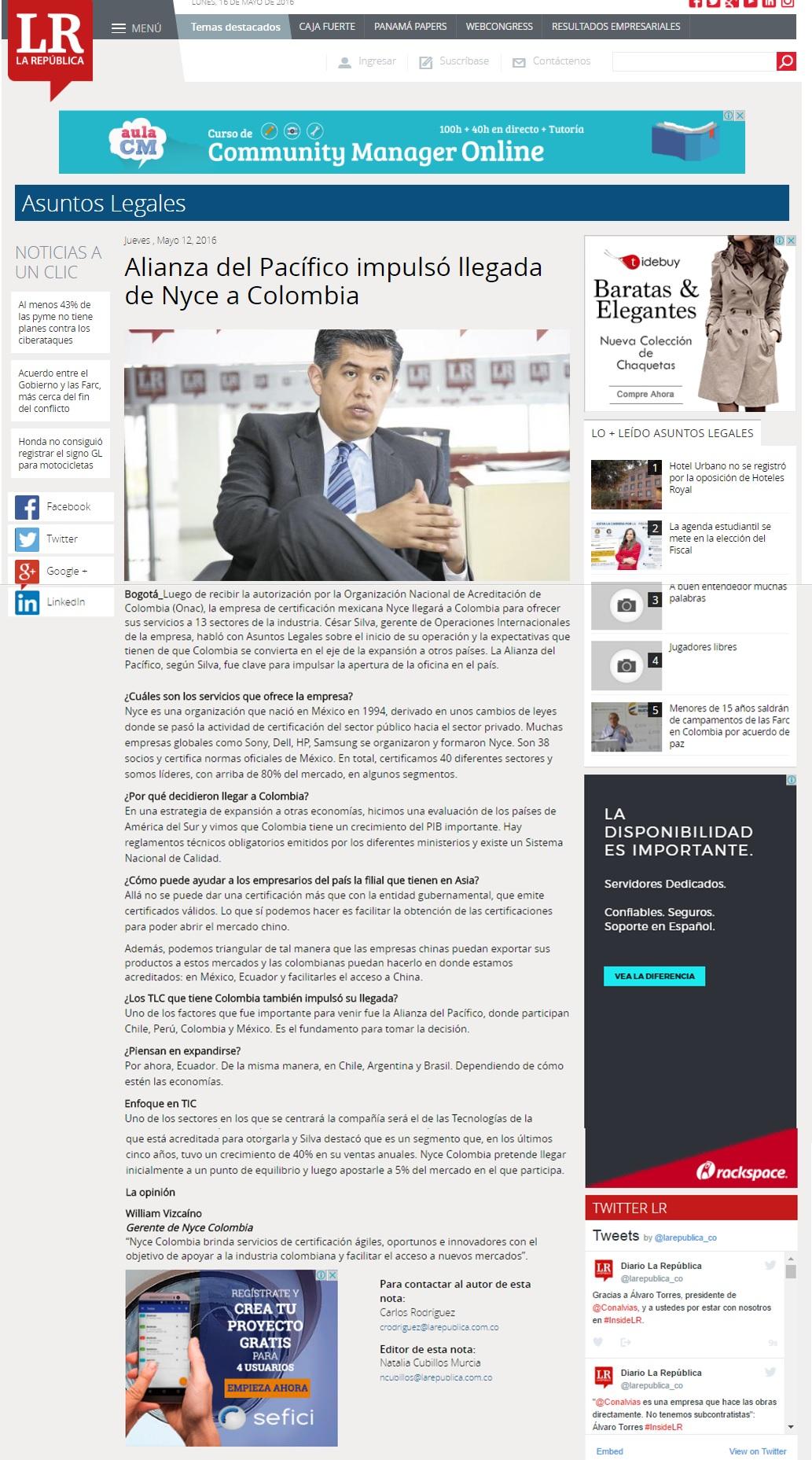 La República 12 mayo de 2016 [w]