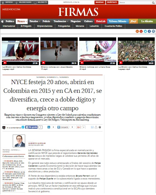 Milenio.com [FIRMAS]-1 de Junio 2016