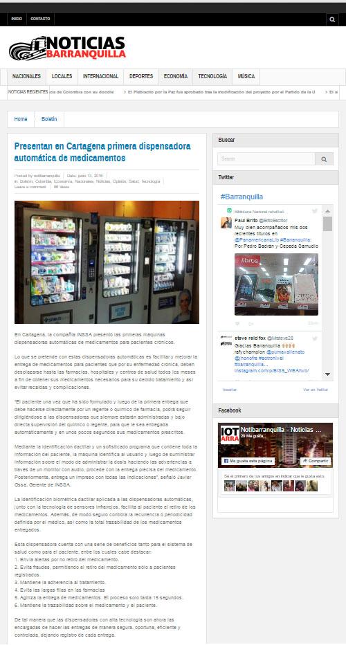 NOTICIAS BARRANQUILLA – JUNIO 13 DE 2016- INSSA