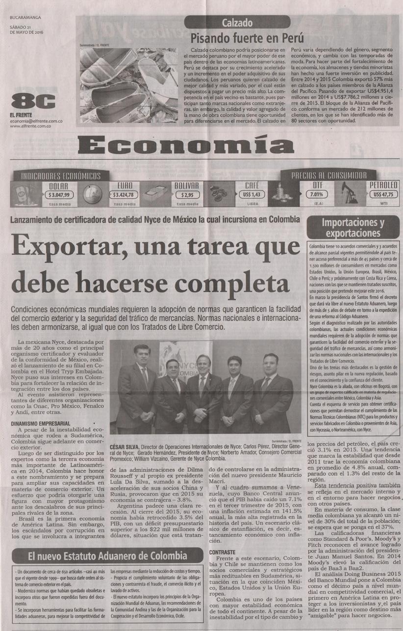 NYCE, Vanguardia Liberal