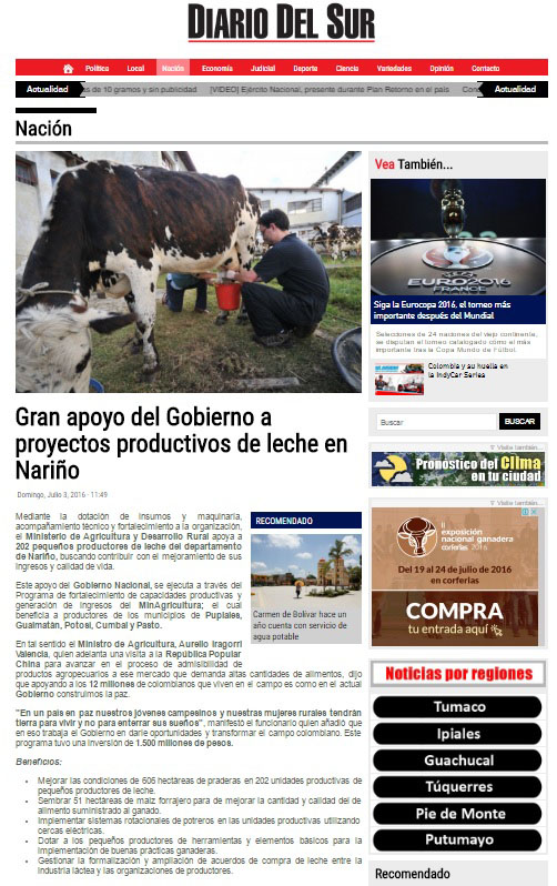 Nariño-Diario del sur