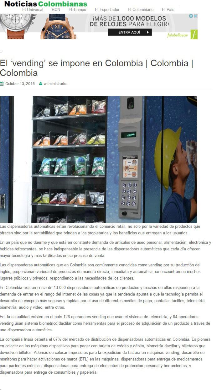 Noticias Colombianas 13 fr Octubre de 2016 [web]