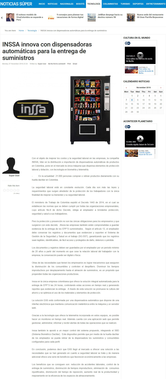 Noticias Súper 7 de Noviembre de 2016 [web]