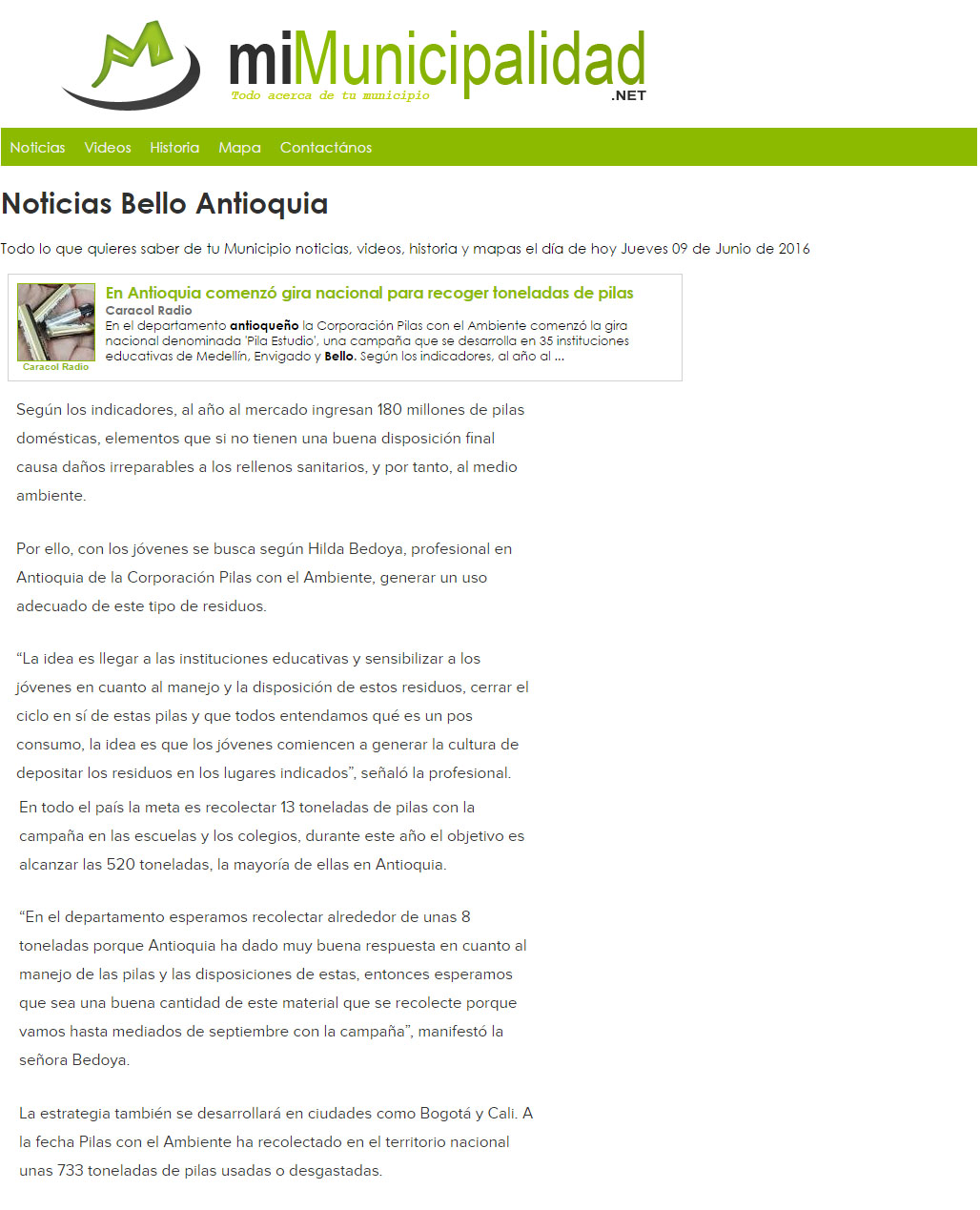 PILA ESTUDIO-Nota www.mimunicipalidad.net – 09-06-2016