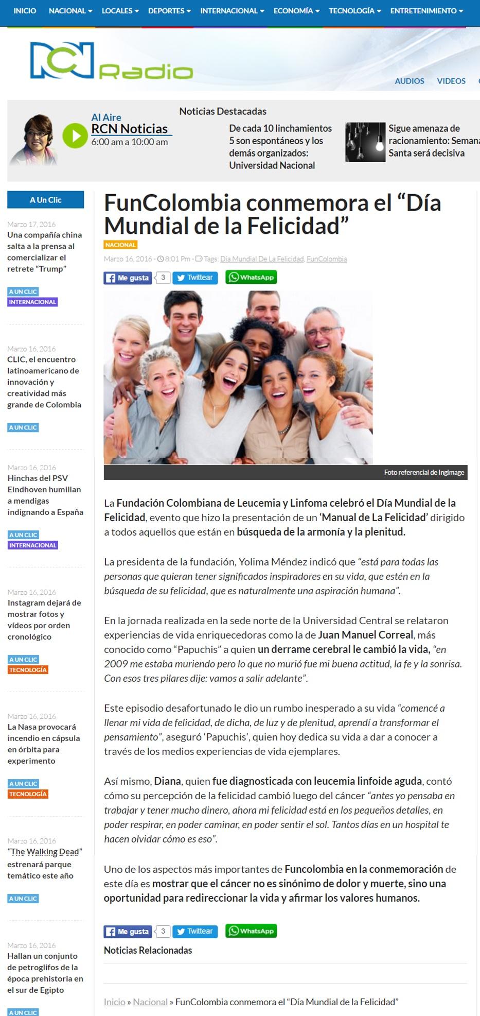 RCN Radio 16 de Marzo [web]