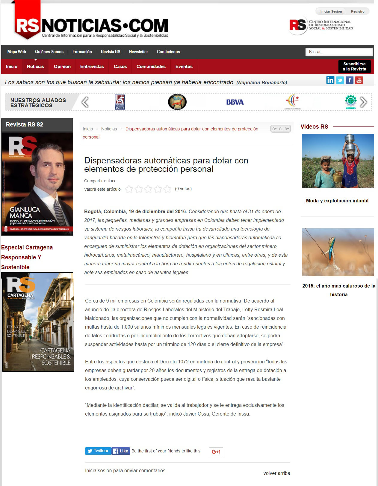RS Noticias.com 19 de Diciembre de 2016 [web]