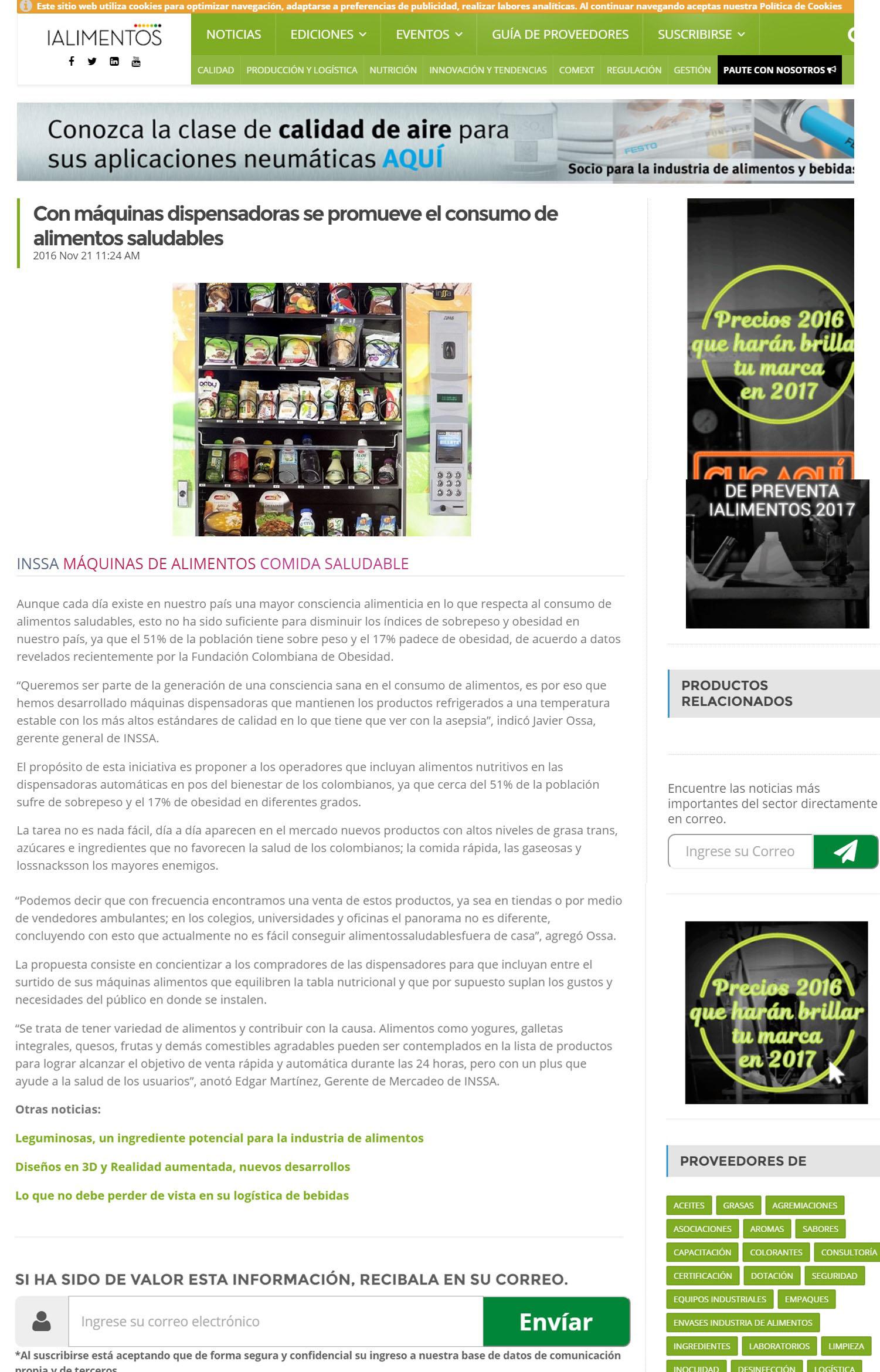 Revista I Alimentos 21 de Noviembre de 2016 [web]