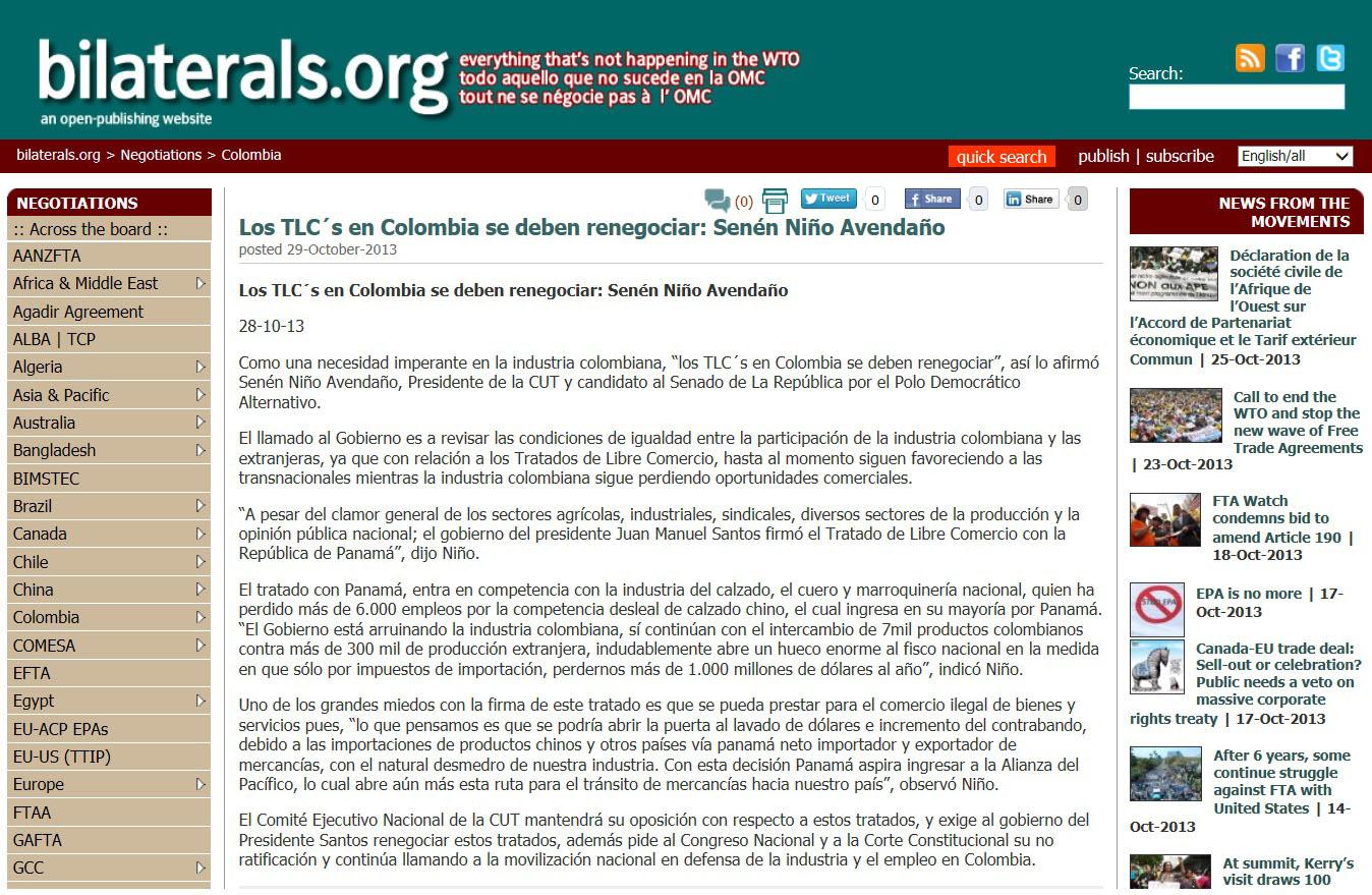 bilaterals.org 29 de Oct. TLC
