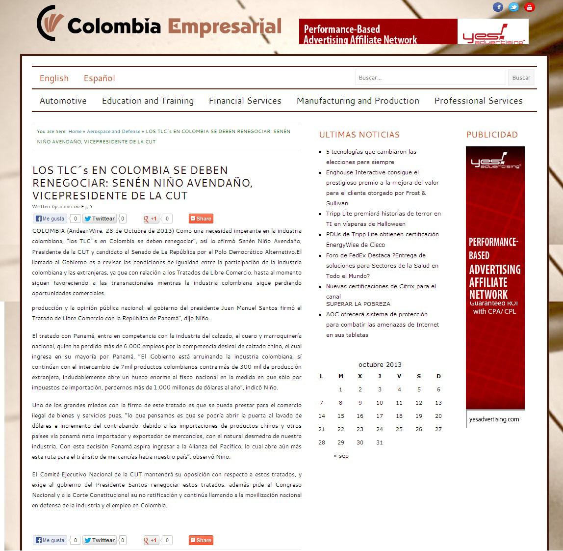 colombiaempreserial.com.co TLC 28 de oct. 2013