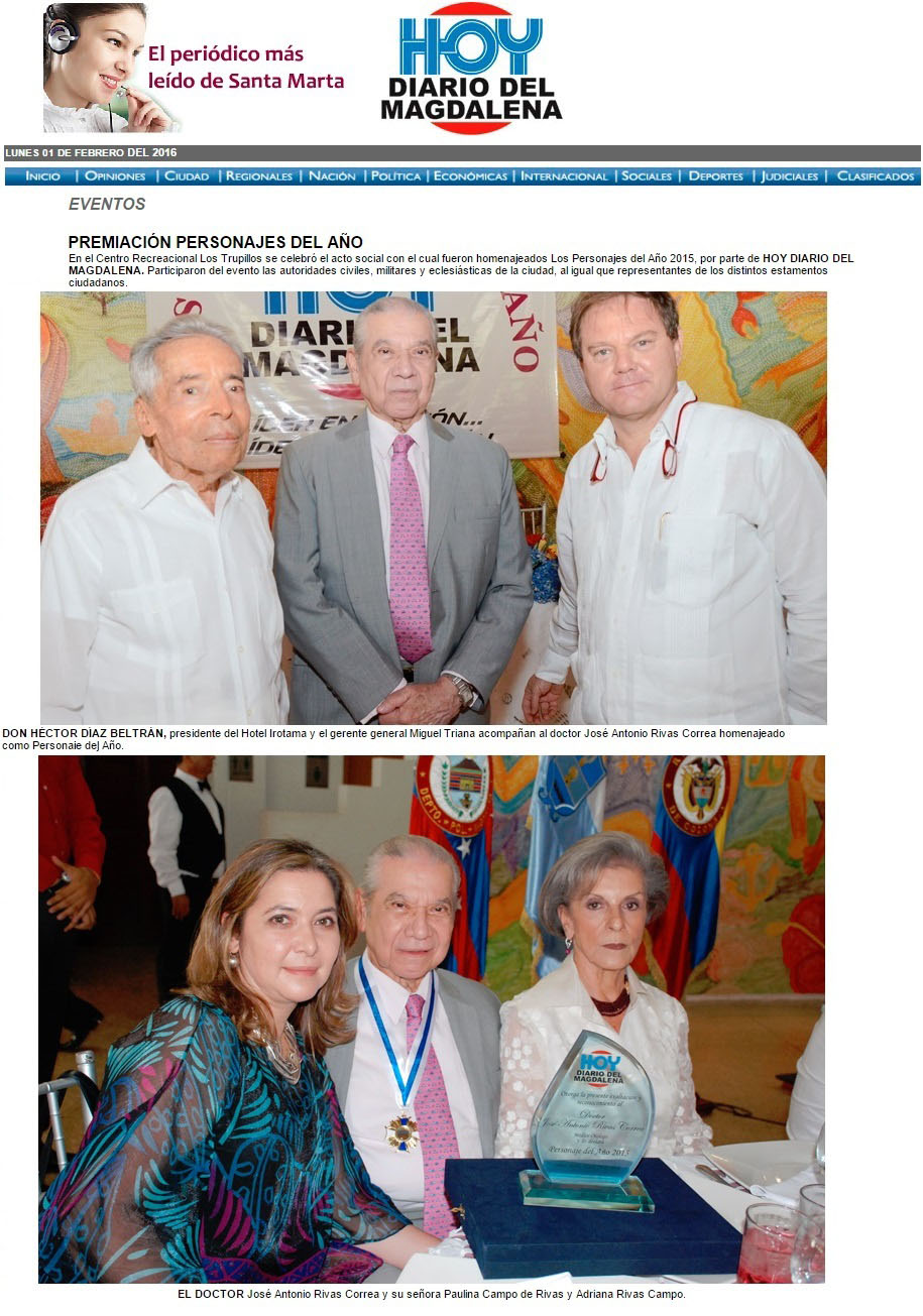 hoy diario del magdalena 1 de febrero de 2016 ON LINE